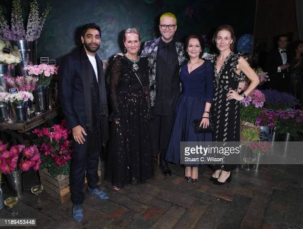 Atul Pathak Kristina Stenvinkel Christopher Wylie Carolyn Mair and Katarina Kempe attend the gala dinner in honour of Edward Enninful winner of the...