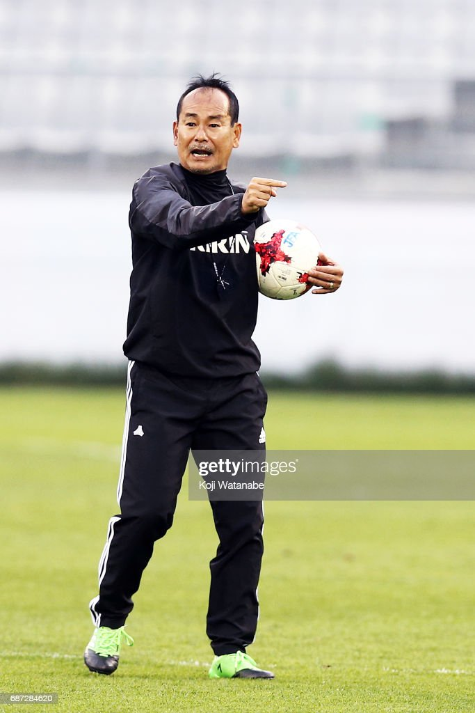 Atushi Uchiyama of Japan in action during a training session ahead of the FIFA U-20 World Cup Korea Republic 2017 group D match against Uruguay on May 23, 2017 in Suwon, South Korea.