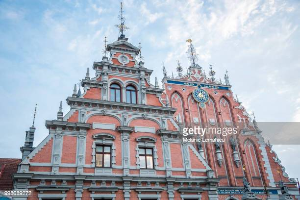 atvian attraction - house of the Blackheads, in old city Riga, Latvia