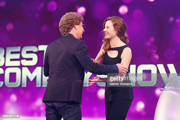 Atze Schroeder and Katrin Bauerfeind attend the 19th Annual German Comedy Awards at Coloneum on October 20 2015 in Cologne Germany