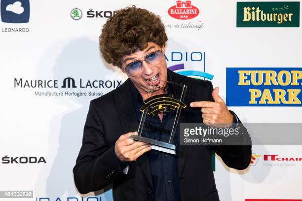 Atze Schroeder poses with his award prior to the Radio Regenbogen Award 2014 on April 11 2014 in Rust Germany