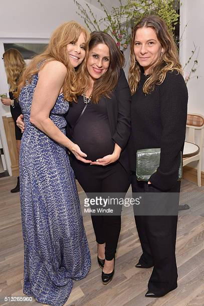 Au Fudge partner Kimberly Muller actress Soleil Moon Frye and Ashlee Margolis attend the grand opening of Au Fudge presented by Amazon Family on...