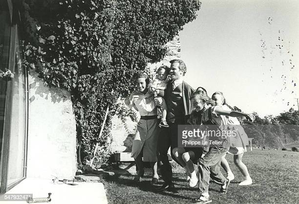 'Au Nom de Tous Les Miens' during filming 18th October 1982 The movie is based on the true story of Holocaust survivor Martin Gray Pictured are...