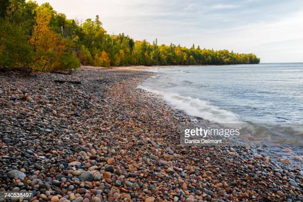 Au Sable Point and Lake Superior, Pictured Rocks National Lakeshore, Michigan, USA