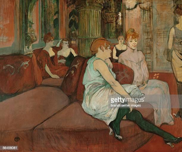 Au Salon de la rue des Moulins 1894 Charcoal and oil on canvas 1115 x 1325 cm [Au Salon de la rue des Moulins Gemaelde 1894]