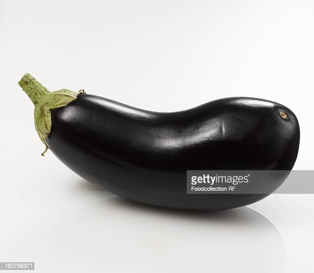 Aubergine on white background