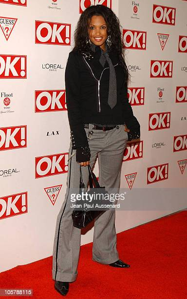 KD Aubert during Ok Magazine US Debut Launch Party Arrivals at LAX in Hollywood California United States