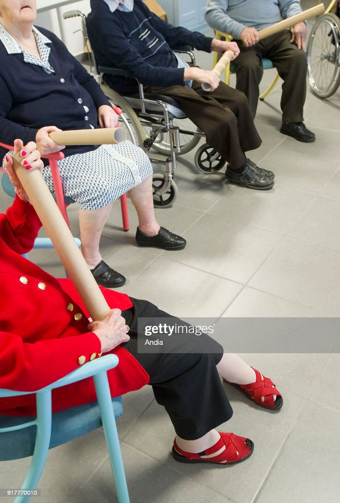 EHPAD' nursing home for dependent elderly persons. : News Photo