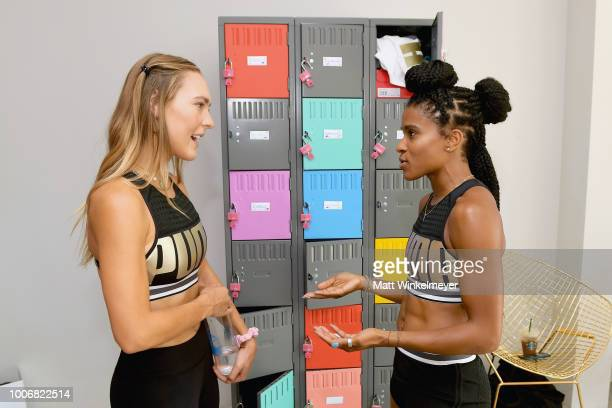 Aubre Winters and Deja Riley attend Puma's Do You Studio on July 28 2018 in Los Angeles California