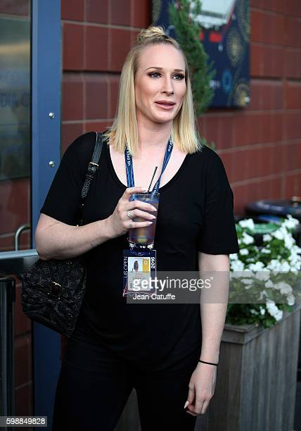 Aubree Connors daughter of Jimmy and Patti Connors attends day 5 of the 2016 US Open at USTA Billie Jean King National Tennis Center on September 2...