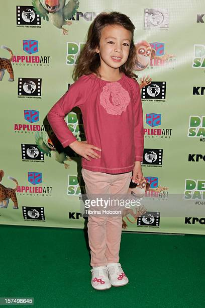 Aubrey Anderson Emmons attends the Delhi Safari Los Angeles premiere at Pacific Theatre at The Grove on December 3 2012 in Los Angeles California