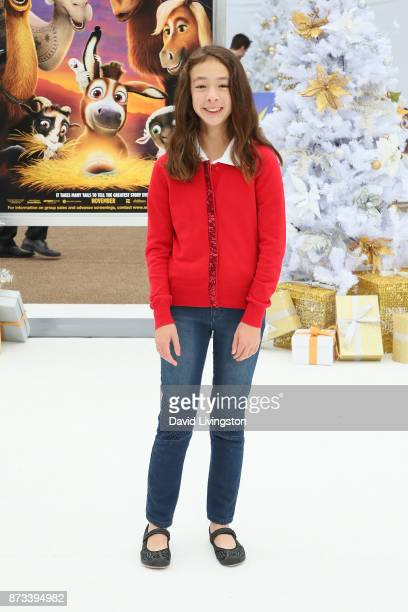 Aubrey AndersonEmmons arrives at the Premiere of Columbia Pictures' 'The Star' at the Regency Village Theatre on November 12 2017 in Westwood...