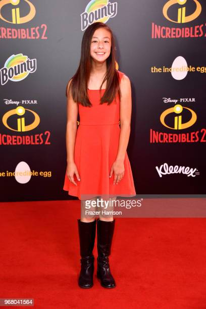 Aubrey AndersonEmmons attends the premiere of Disney and Pixar's Incredibles 2 at the El Capitan Theatre on June 5 2018 in Los Angeles California