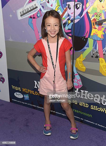 Aubrey AndersonEmmons attends the premiere of My Little Pony Equestria Girls Rainbow Rocks at TCL Chinese Theatre on September 27 2014 in Hollywood...