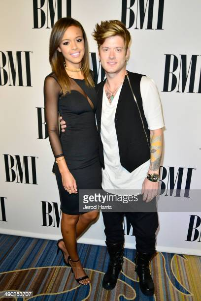 Aubrey Cleland and Nash Overstreet attend the 62nd Annual BMI Pop Awards at Regent Beverly Wilshire Hotel on May 13 2014 in Beverly Hills California