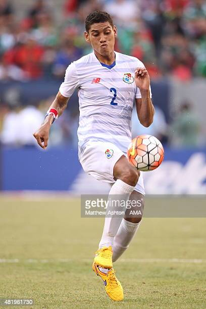 Aubrey David of Trinidad and Tobago during the Gold Cup Quarter Final between Trinidad Tobago and Panama at MetLife Stadium on July 19 2015 in East...
