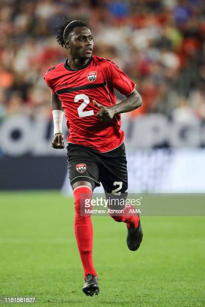 Aubrey David of Trinidad and Tobago during the Group D 2019 CONCACAF Gold Cup fixture between United States of America and Trinidad Tobago at...