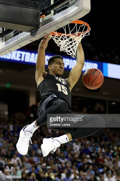 Aubrey Dawkins of the UCF Knights dunks the ball against the Duke Blue Devils during the second half in the second round game of the 2019 NCAA Men's...