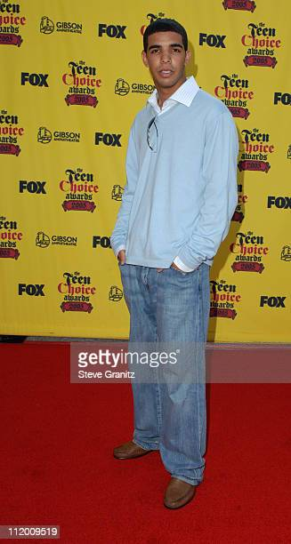 Aubrey Graham of Degrassi during 2005 Teen Choice Awards Arrivals at Gibson Amphitheatre in Universal City California United States