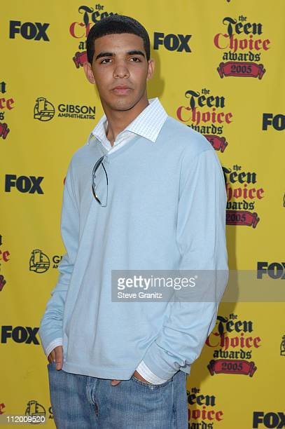 Aubrey Graham of 'Degrassi' during 2005 Teen Choice Awards Arrivals at Gibson Amphitheatre in Universal City California United States