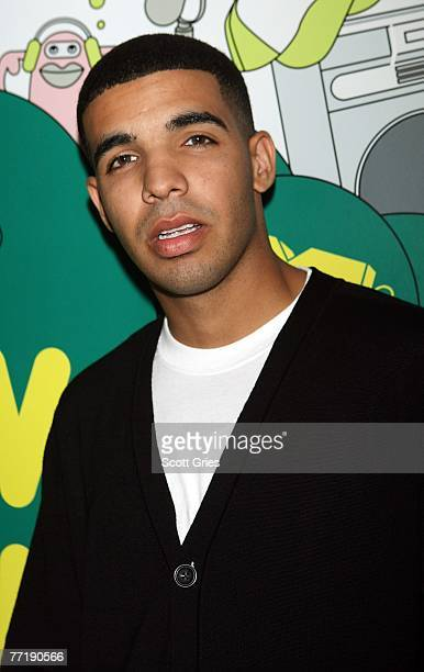 Aubrey Graham poses for a photo backstage during MTV's Total Request Live at the MTV Times Square Studios on October 2 2007 in New York City
