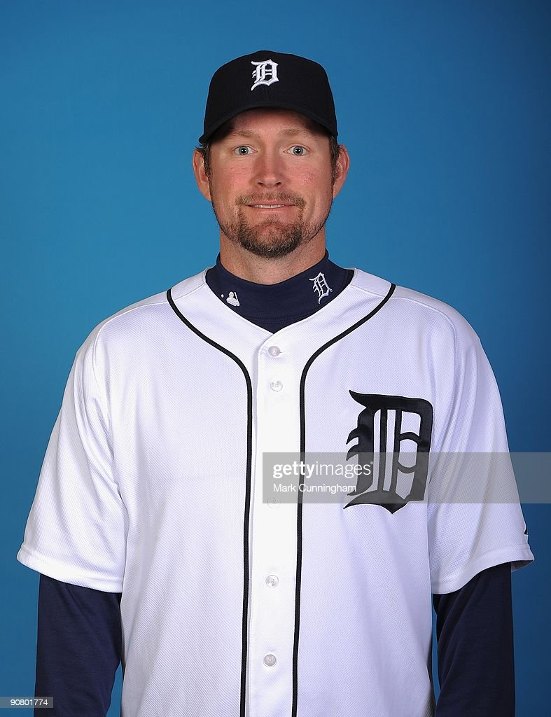Aubrey Huff #19 of the Detroit Tigers poses for a head shot at Comerica Park on September 12, 2009 in Detroit, Michigan.