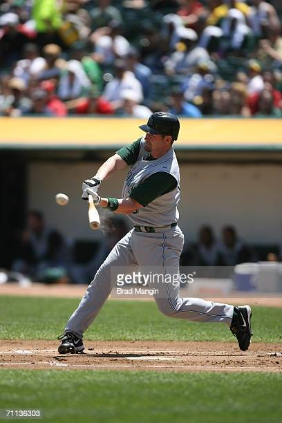 Aubrey Huff of the Tampa Bay Devil Rays bats during the game against the Oakland Athletics at the McAfee Coliseum in Oakland, California on May 7,...