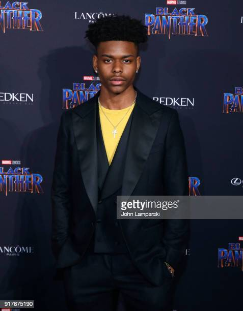 Aubrey Joseph attends Marvel Studios Presents Black Panther Welcome To Wakanda during February 2018 New York Fashion Week The Shows at Industria...