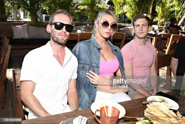 Aubrey Kate attends the Garden Of Love brunch hosted by Amanda Lepore and CT Hedden at Gitano on August 09 2020 in New York City