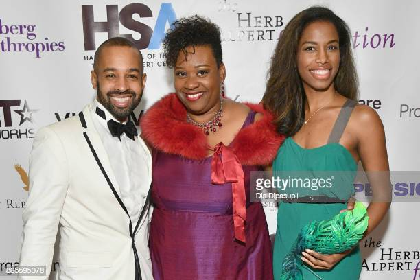 Aubrey Lynch Yolanda Wyns and Adrienne Tarver attend HSA Masquerade Ball on October 23 2017 at The Plaza Hotel in New York City