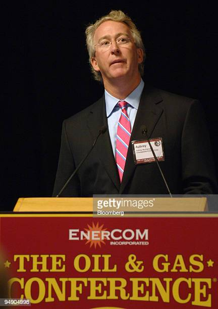 Aubrey McClendon chairman and CEO of Chesapeake Energy Corp speaks at the Tenth Oil and Gas Conference in Denver Colorado August 9 2005