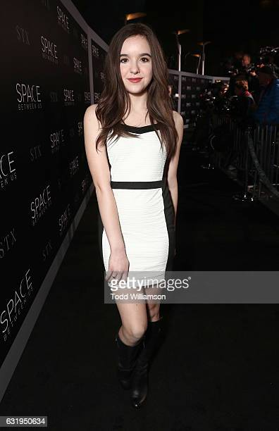 Aubrey Miller attends the premiere Of STX Entertainment's 'The Space Between Us' at ArcLight Hollywood on January 17 2017 in Hollywood California