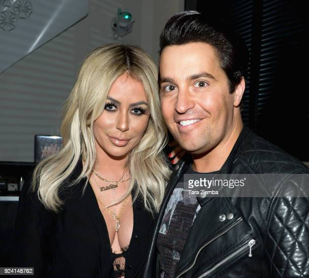 Aubrey O'Day and Steven Grossman attend Steven Grossman's 40th birthday party hosted by The IE Group at STK Los Angeles on February 24, 2018 in Los...