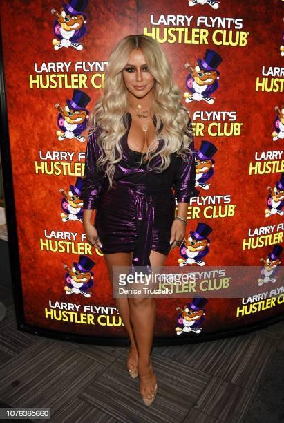 Aubrey O'Day arrives at Hustler Club Las Vegas on January 1, 2018 in Las Vegas, Nevada.