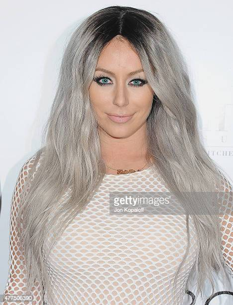 Aubrey O'Day arrives at NYLON Magazine And BCBGeneration Annual May Young Hollywood Issue Party Hosted By May Cover Star Dakota Fanning at HYDE...