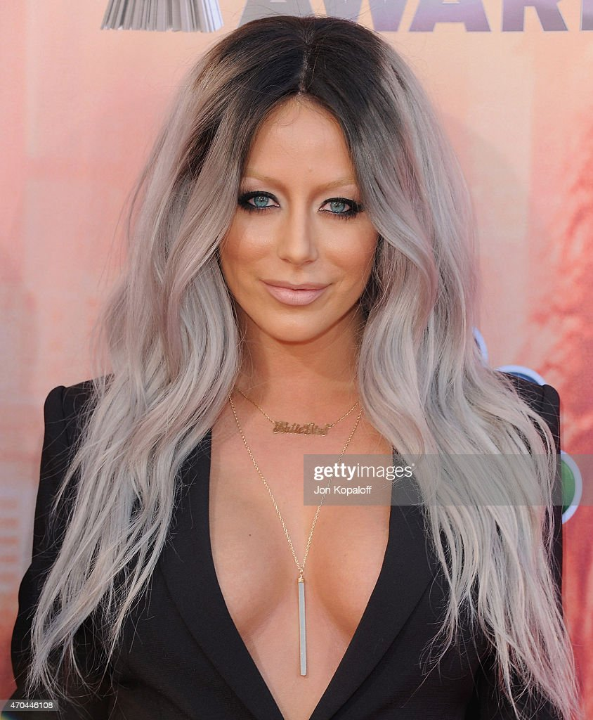 Aubrey O'Day arrives at the 2015 iHeartRadio Music Awards at The Shrine Auditorium on March 29, 2015 in Los Angeles, California.