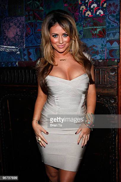 Aubrey O'Day attends Heel Hate Benefit For Matthew Shepard Foundation And NOH8 Campaign at House of Blues Sunset Strip on January 12 2010 in West...