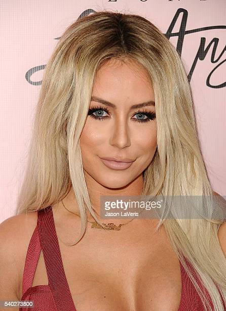 Aubrey O'Day attends the House of CB flagship store launch at House Of CB on June 14 2016 in West Hollywood California