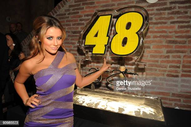 Aubrey O'Day attends the NASCAR SPRINT Cup party at Lavo at the Palazzo on December 4, 2009 in Las Vegas, Nevada.