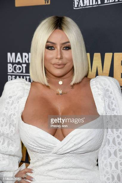 """Aubrey O'Day attends WE tv Celebrates the 100th Episode of the """"Marriage Boot Camp"""" reality stars franchise and the premiere of """"Marriage Boot Camp..."""