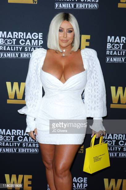 Aubrey O'Day attends WE tv celebrates the premiere of 'Marriage Boot Camp' at SkyBar at the Mondrian Los Angeles on October 10, 2019 in West...