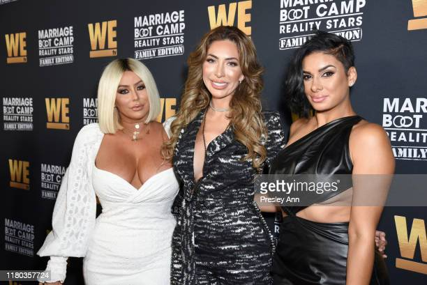 """Aubrey O'Day, Farrah Abraham and Laura Govan attend WE tv Celebrates The 100th Episode Of The """"Marriage Boot Camp"""" Reality Stars Franchise And The..."""