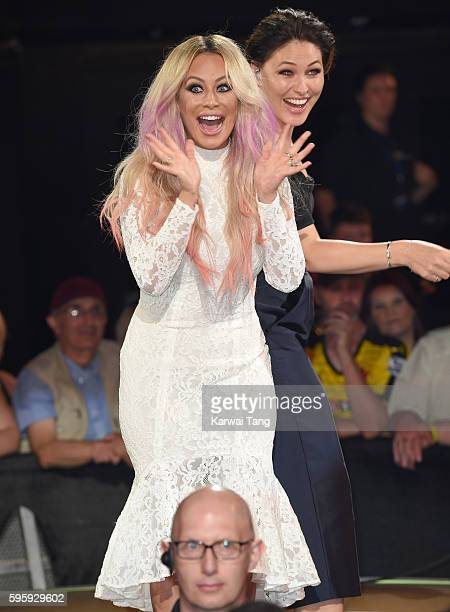 Aubrey O'Day is evicted from the final of Celebrity Big Brother 2016 at Elstree Studios on August 26 2016 in Borehamwood England