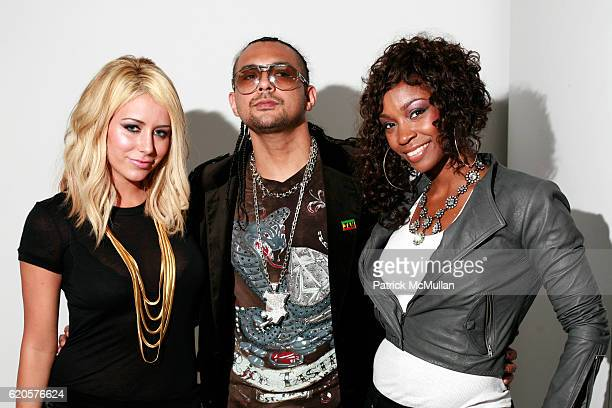 Aubrey O'Day Sean Paul and D Woods attend TORY BURCH Spring 2009 Presentation Makeup by BOBBI BROWN at Matthew Marks Gallery on September 9 2008 in...