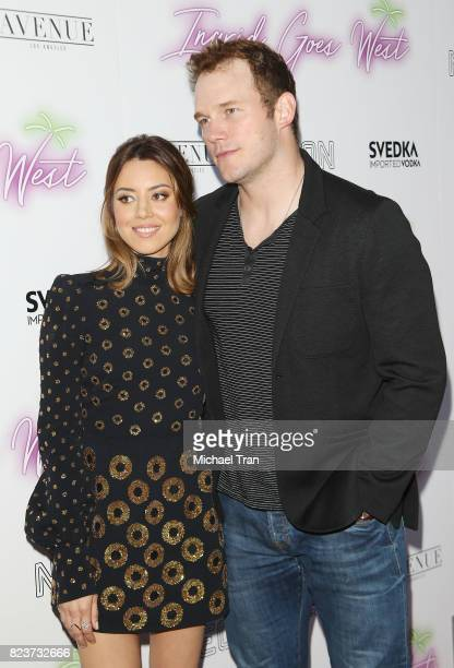 Aubrey Plaza and Chris Pratt arrive at the Los Angeles premiere of Neon's Ingrid Goes West held at ArcLight Hollywood on July 27 2017 in Hollywood...