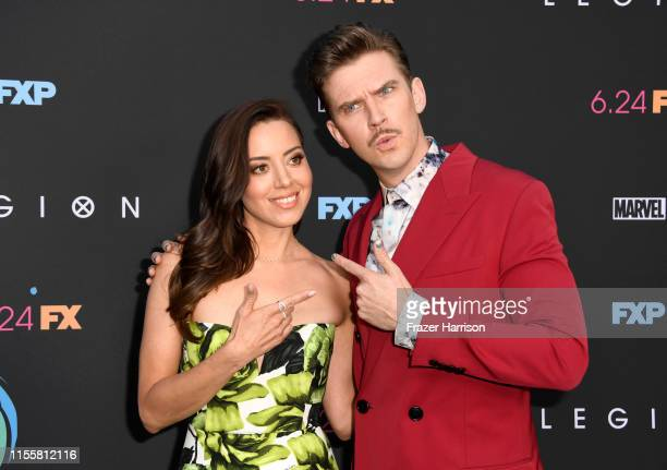 Aubrey Plaza and Dan Stevens attend the LA Premiere Of FX's Legion Season 3 at ArcLight Hollywood on June 13 2019 in Hollywood California