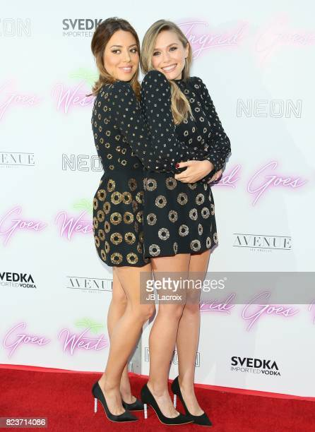 Aubrey Plaza and Elizabeth Olsen attend the premiere of Neon's 'Ingrid Goes West' on July 257 2017 in Hollywood, California.