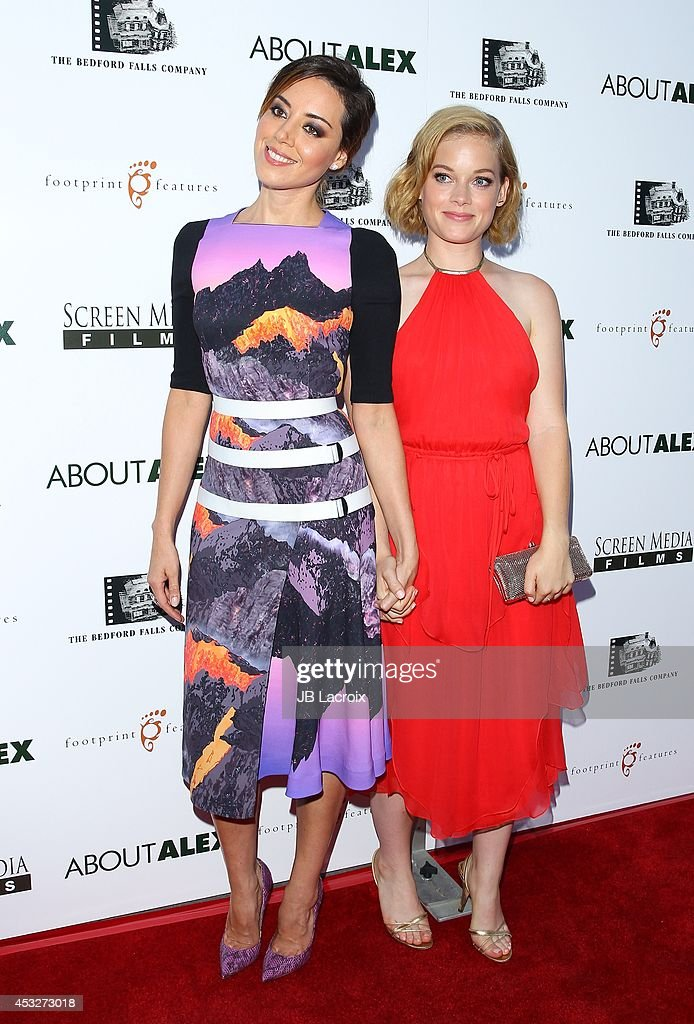 Aubrey Plaza and Jane Levy attend the 'About Alex' Los Angeles premiere held at the Arclight Theater on August 6, 2014 in Hollywood, California.