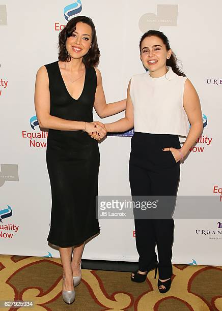 Aubrey Plaza and Mae Whitman attend Equality Now's 3rd annual 'Make Equality Reality' gala on December 05 2016 in Beverly Hills California