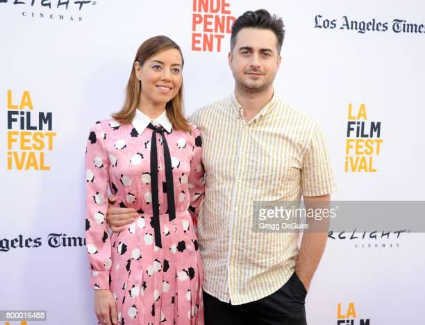 Aubrey Plaza and Matt Spicer arrive at the 2017 Los Angeles Film Festival Closing Night Screening Of Ingrid Goes West at Arclight Cinemas Culver City...